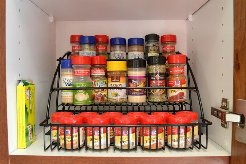 an Organized Spice Rack