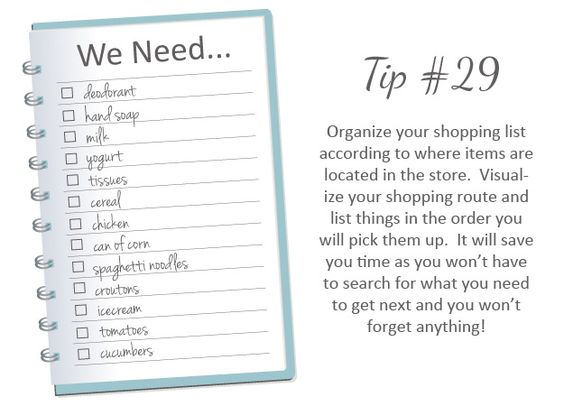 Organize your Shopping List