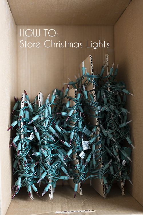 how to store christmas lights diy