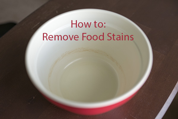 How to Remove Food Stains from Dishes